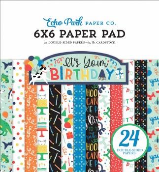 It's Your Birthday Boy 6x6 Paper Pad