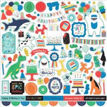 It's Your Birthday Boy 12x12 Sticker