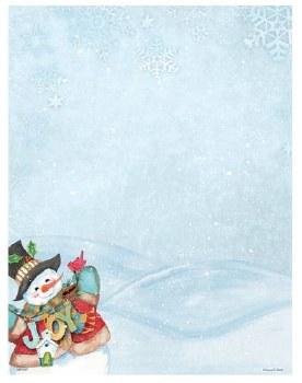Holiday Letterhead- Joy Snowman