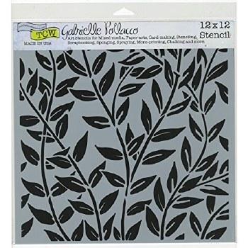 12x12 Stencil- Jungle Vines