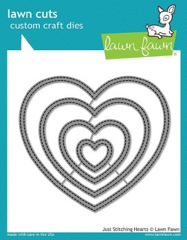 Lawn Fawn Stackable Hearts Craft Dies- Just Stitching Hearts