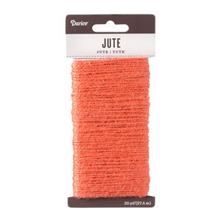 Jute Cord, 30yds- Coral