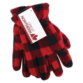 Great Northern Buffalo Check Kid's Gloves