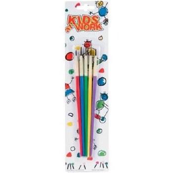 Kids At Work Paint Brush Pack- 5ct