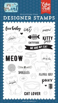 I Love My Cat Designer Stamps- Kitty Love