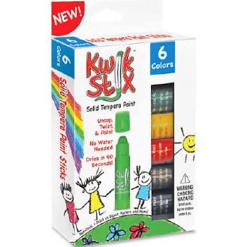 Kwik Stix Solid Tempera Paint, 6pk- Classic