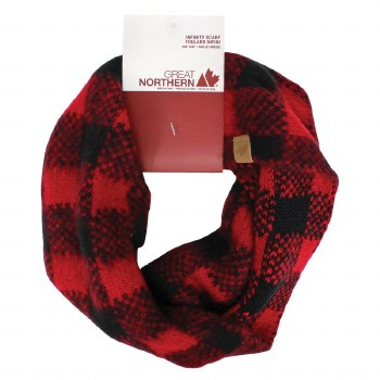 Great Northern Buffalo Check Infinity Scarf