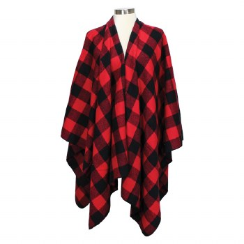 Great Northern Buffalo Check Ladies Poncho