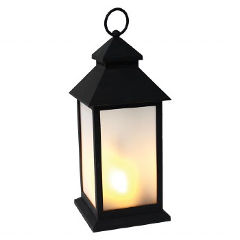 "12"" Lantern with Flame Effect"