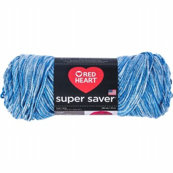 Red Heart Super Saver Yarn, Mulit-Color- Lapis