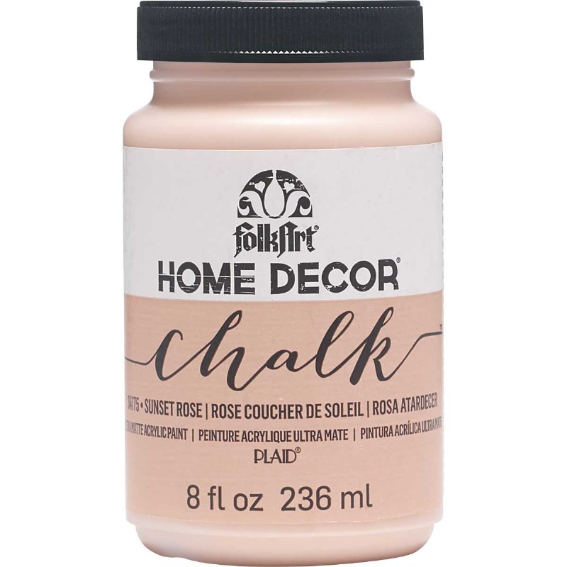 Folkart Home Decor Chalk Paint 8 Oz Sunset Rose Crafts Direct