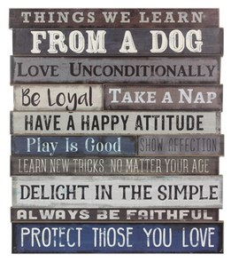 Wall Art- Learn From A Dog