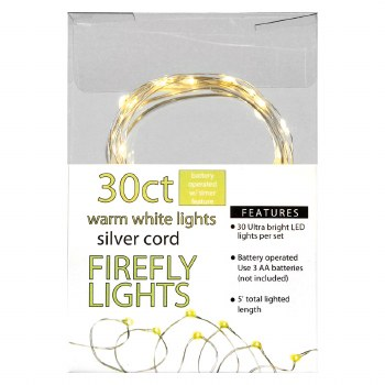 30ct Firefly Lights- Warm White