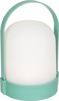 LED Plastic Lantern- Sea Green