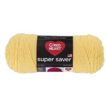 Red Heart Super Saver Yarn- Lemon