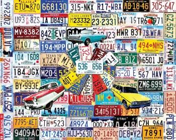 License Plates - 1000 piece puzzle