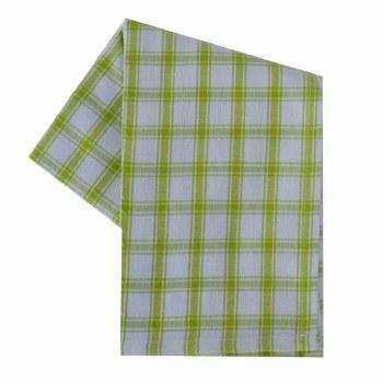 """Creekside Plaid 20""""x28"""" Tea Towel- Lime"""