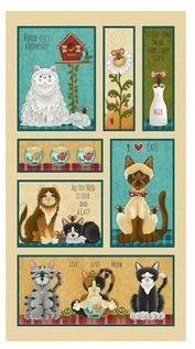Animals Fabric Panel- Live, Love, Meow