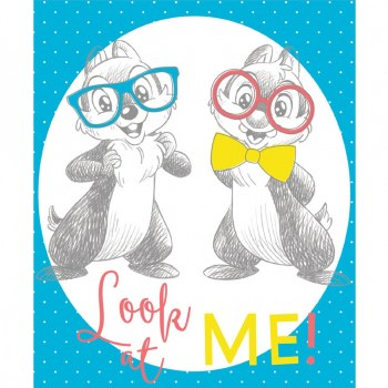 Licensed Fabric Panel- Disney, Chip & Dale Look at Me