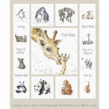 Animals Fabric Panel- Love Is... African Animals