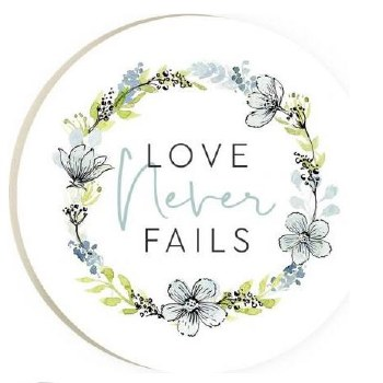 Car Coaster- Love Never Fails