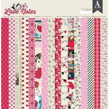 Authentique Love Notes 12x12 Paper Pad