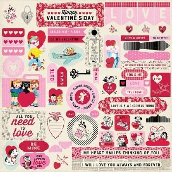 Authentique Love Notes Sticker Sheet