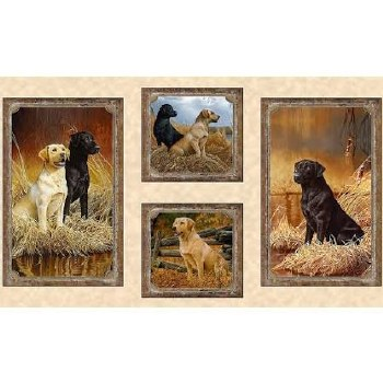 Animals Fabric Panel- Loyal, Loveable Labs