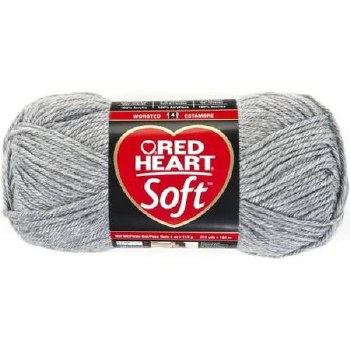 Red Heart Soft- Light Heather Grey