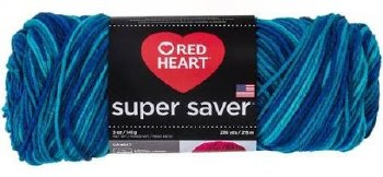 Red Heart Super Saver Yarn, Mulit-Color- Macaw