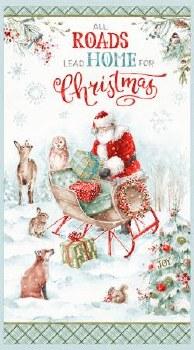 Christmas & Winter Fabric Panel- Magical Christmas