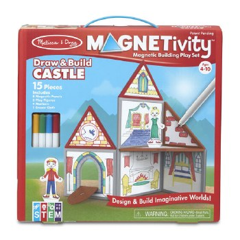 Magnetivity Magnetic Building Play Set- Draw & Build Castle
