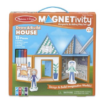 Magnetivity Magnetic Building Play Set- Draw & Build House