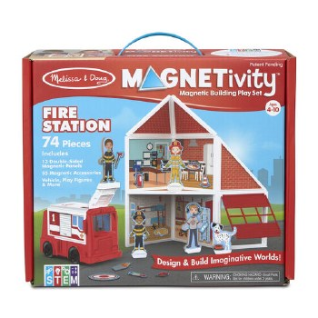 Magnetivity Magnetic Building Play Set- Fire Station