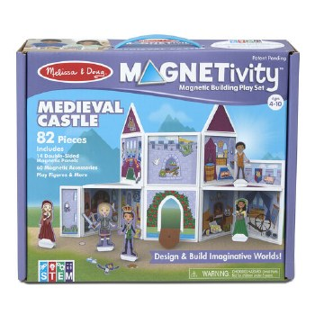 Magnetivity Magnetic Building Play Set- Medieval Castle