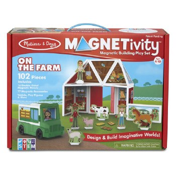 Magnetivity Magnetic Building Play Set- On the Farm