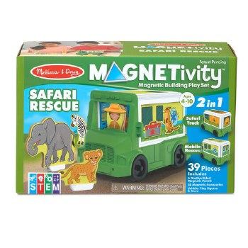 Magnetivity Magnetic Building Play Set- Safari Rescue