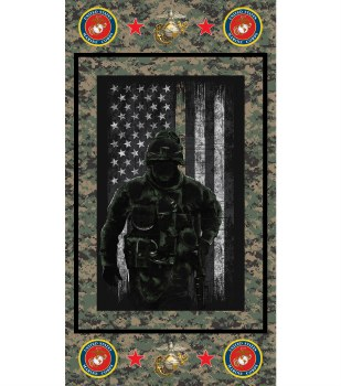 Patriotic Fabric Panel- Marine