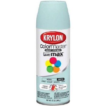 Krylon Indoor/Outdoor 12oz Spray Paint- Matte, Aqua