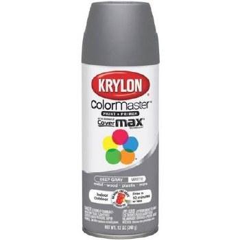Krylon Indoor/Outdoor 12oz Spray Paint- Matte, Deep Gray