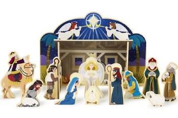 Md Wooden Nativity Set