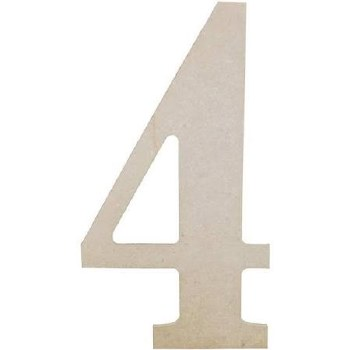 """MDF Number, 9.5""""- 4"""