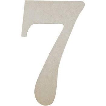 """MDF Number, 9.5""""- 7"""