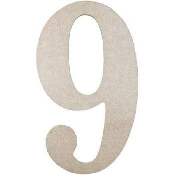"""MDF Number, 9.5""""- 9"""