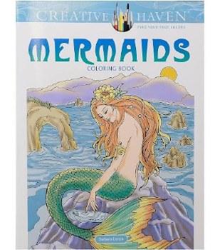 Creative Haven Adult Coloring Book- Mermaids