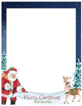 Holiday Letterhead- Santa & Reindeer