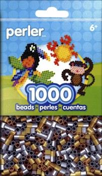Perler Beads 1000 Piece- Metallic Mix