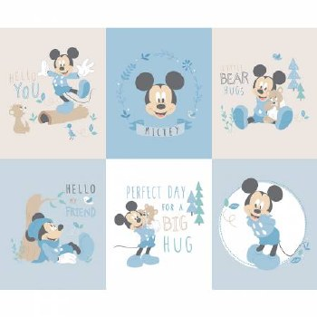 Licensed Fabric Panel- Mickey Mouse Little Meadow