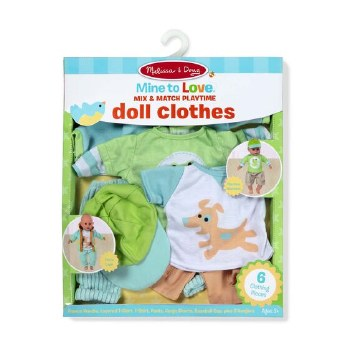 Melissa & Doug Mine to Love Play Set- Doll Clothes, Playtime