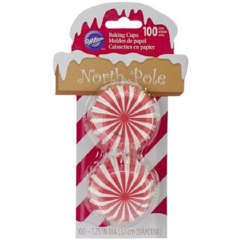 Mini Baking Cups, 100ct- North Pole
